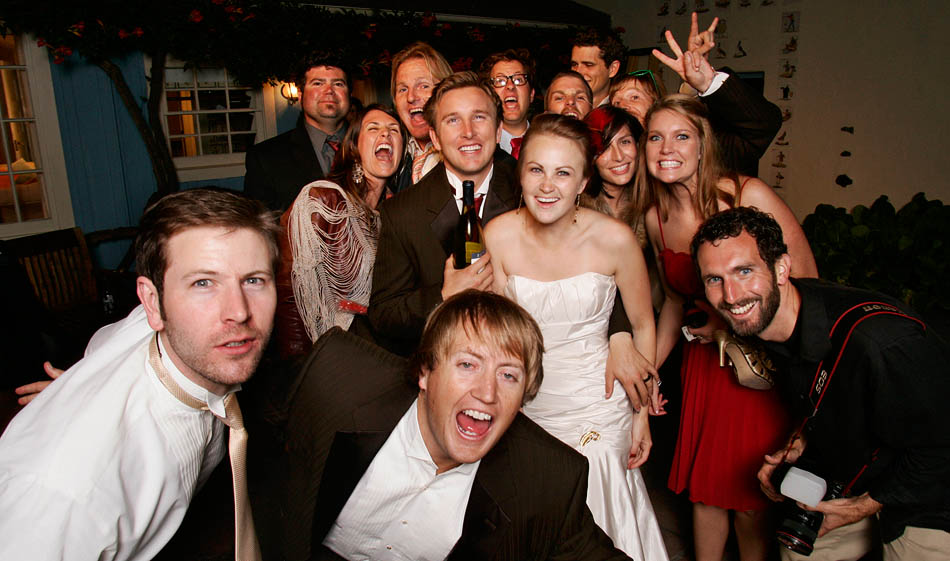 That's me on the right, in a group photo from my self-portrait station at Chris & Megan's wedding
