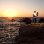 Big Sur coast engagement photo