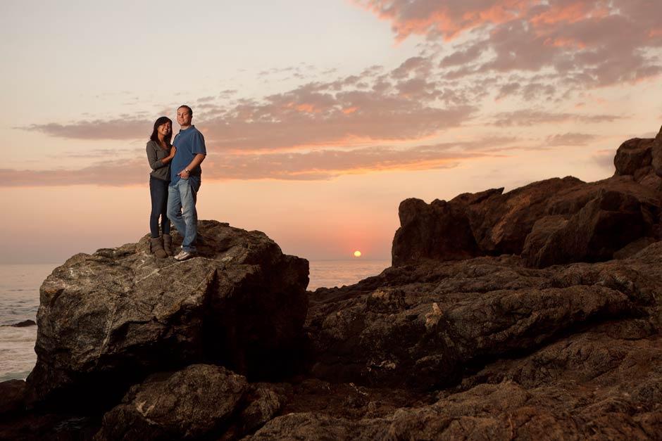 Big sur sunset engagement photo