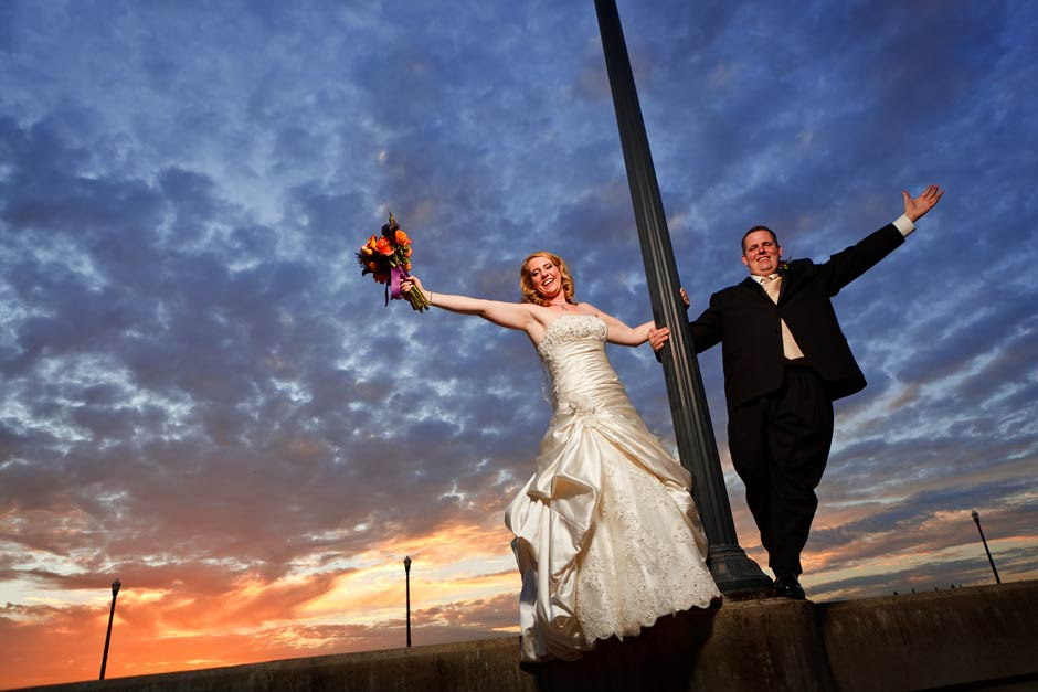 Folsom Bridge wedding photo