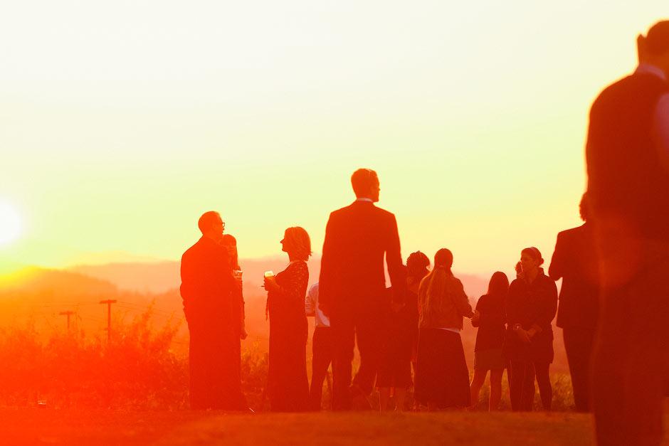 Kunde Estates wedding sunset