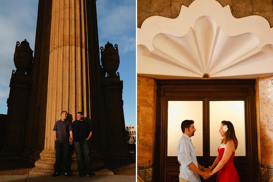 Palace of Fine Arts engagement photo