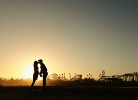 Santa Cruz Beach Boardwalk engagement