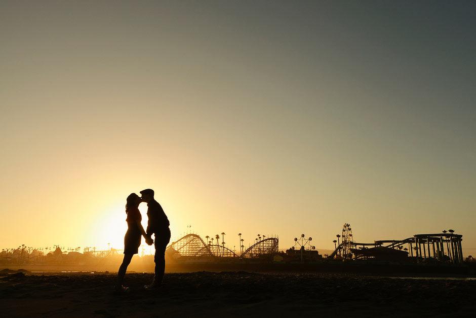 Santa Cruz Beach Boardwalk engagement