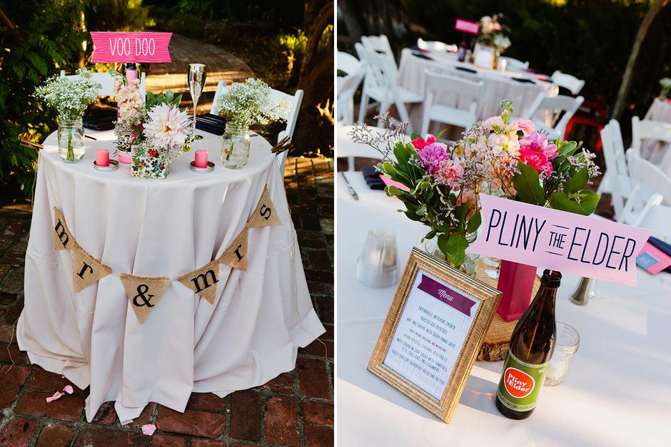 craft beer themed wedding