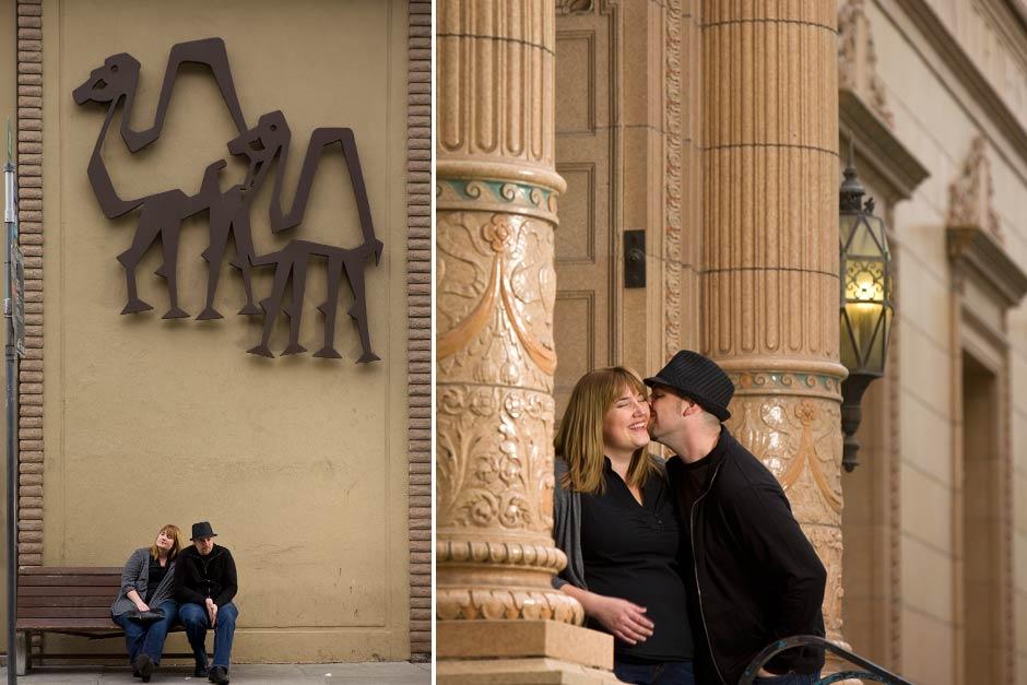 downtown San Jose engagement session
