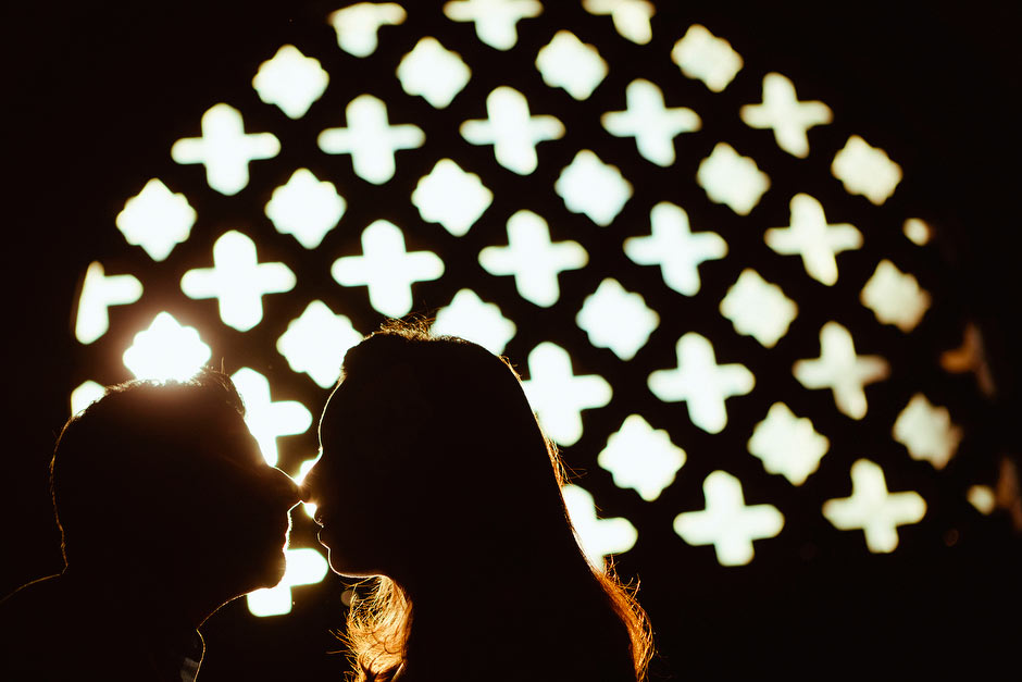engagement session silhouette