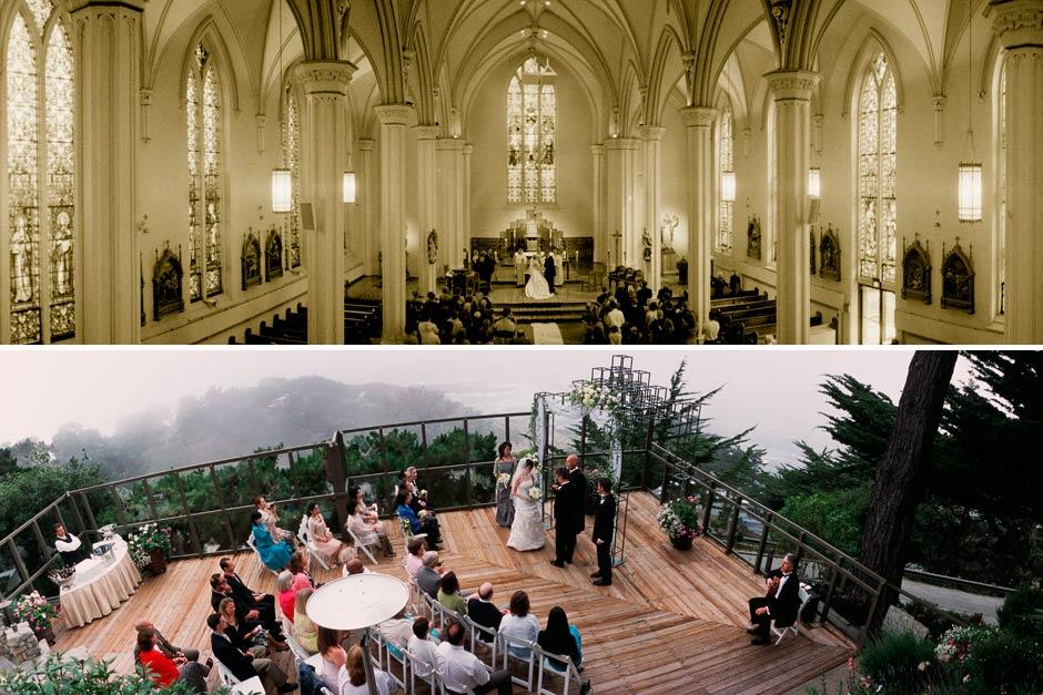 panoramic wedding photos