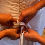 wedding dress lace-up