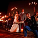wedding fire dancers