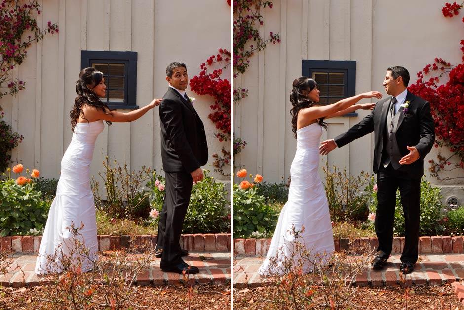 wedding first look photo