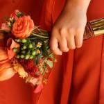wedding flowers match dress