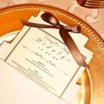 wedding plate detail
