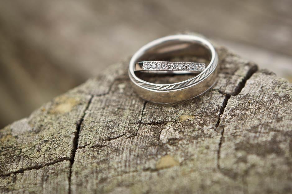 wedding rings detail