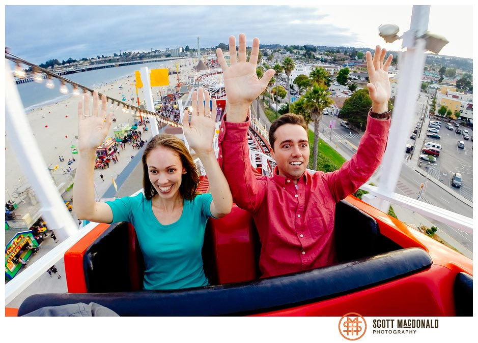 Cara & Edmund's Santa Cruz Beach Boardwalk engagement session