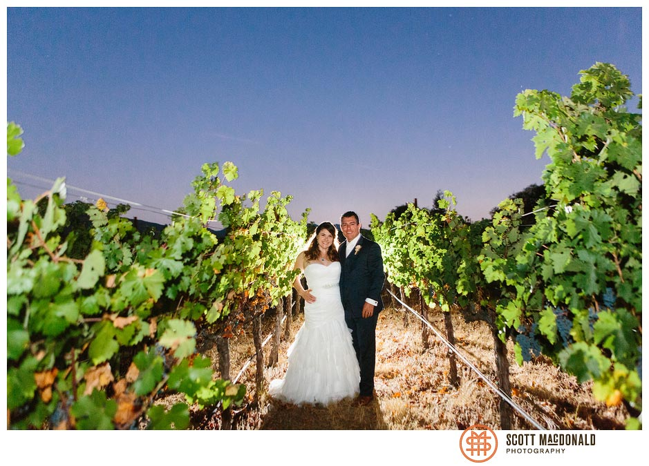 Becky & Hoss's Napa backyard wedding