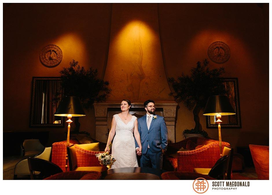 Hotel De Anza San Jose wedding