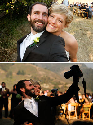 Me shooting my own wedding. Bottom photo by David Royal