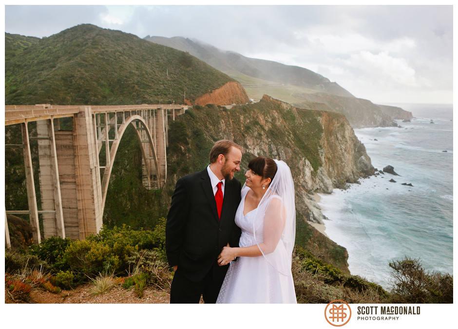 Bixby Bridge Big Sur wedding photo