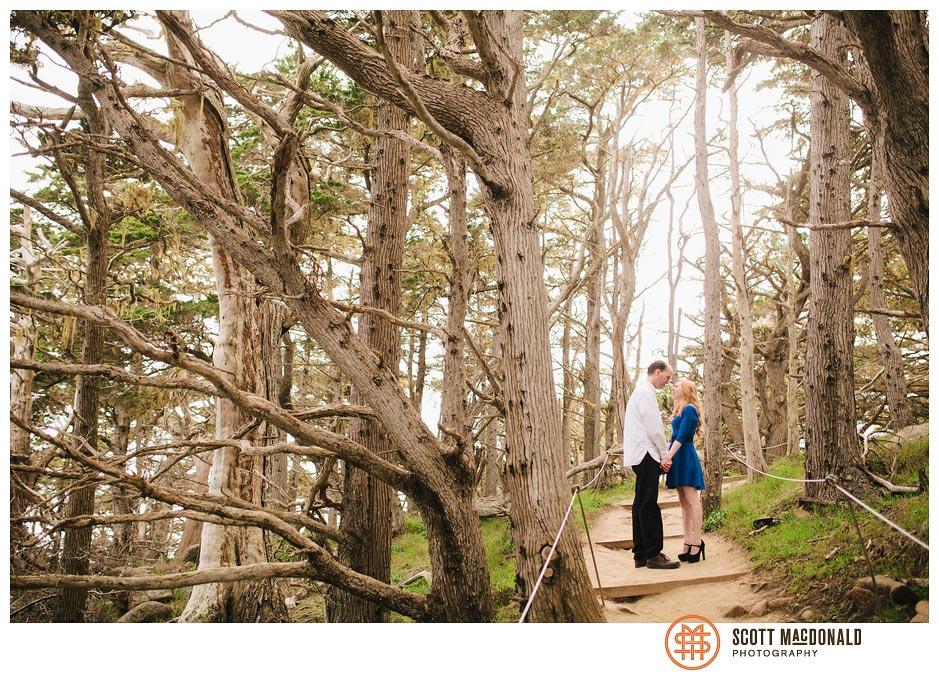 Cynthia & Marshall's Point Lobos engagement session