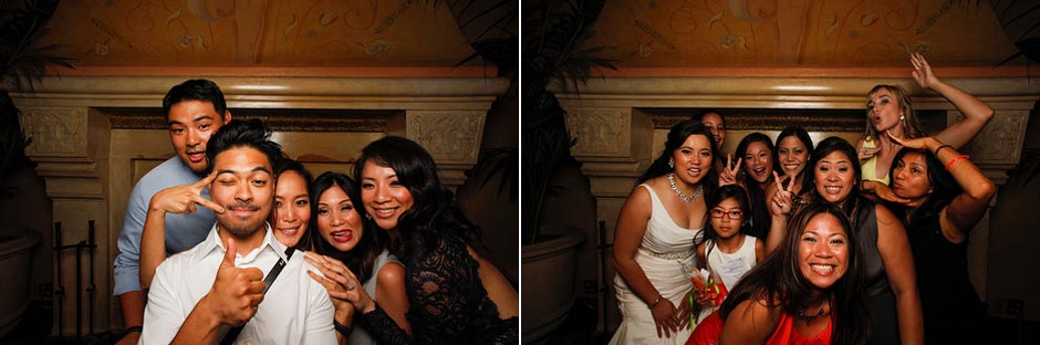 Rosiella & Jeffrey's wedding self-portrait station