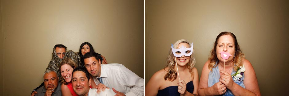 Jan & Eldridge's Monterey Beach Resort wedding self-portrait station