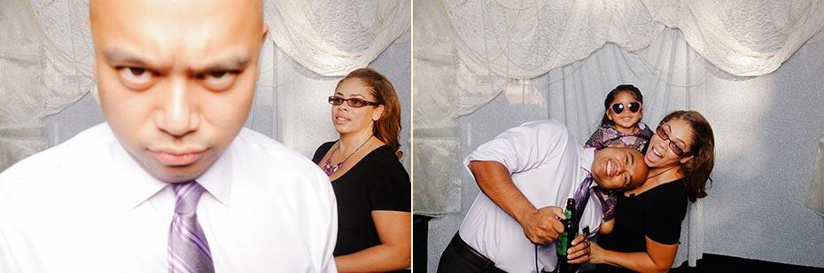 Yvonne & Andrew's wedding self-portrait station