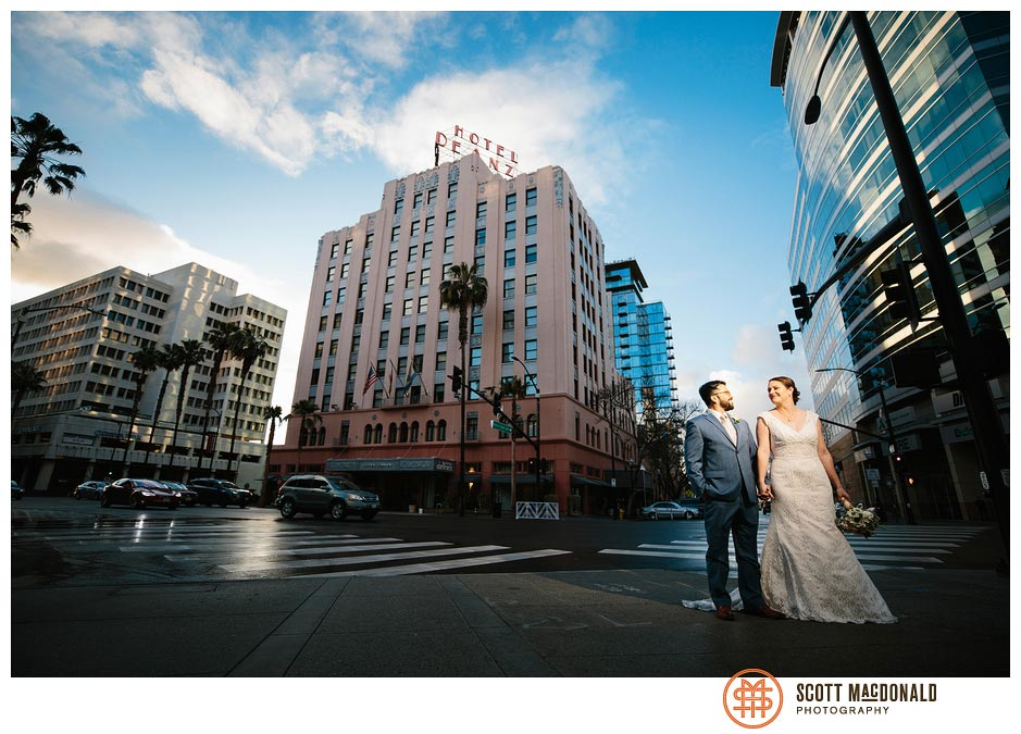 Hotel De Anza San Jose wedding